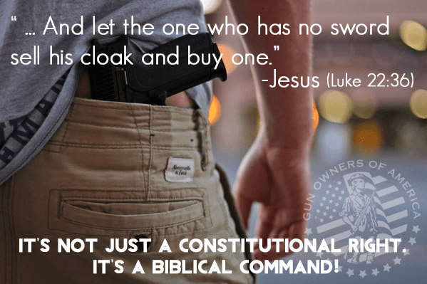 Let the one who has no sword sell his cloak and buy one Jesus (Luke 22 36)
